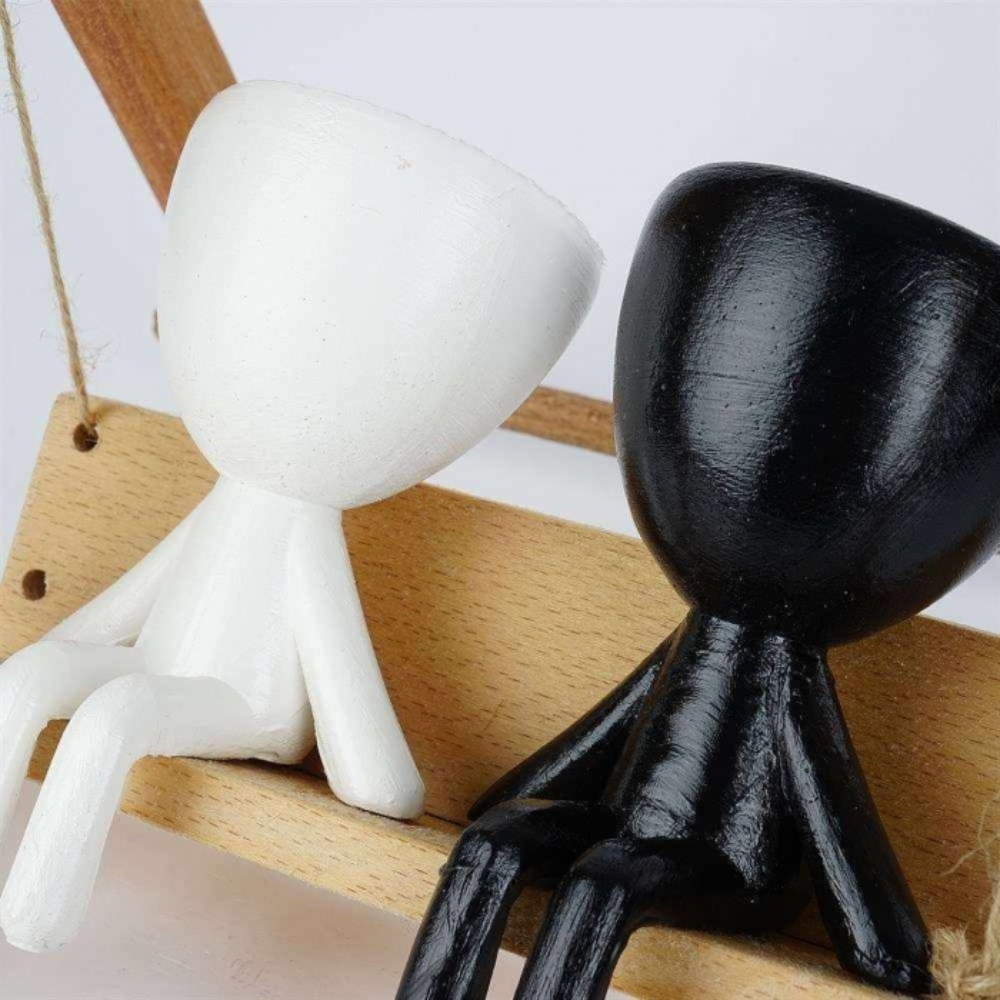 İnsansı Saksı, Salıncaklı Saksı, 3D Tasarım İnsanlı Salıncak