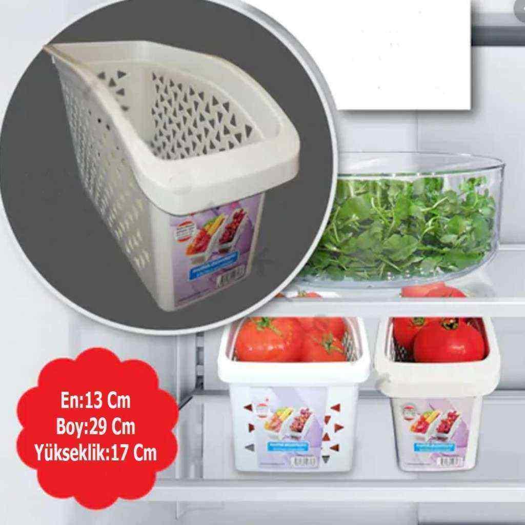 Buzdolabı İçi Sebze ve Meyve Düzenleyici 2 Adet Geniş Boy Organizer